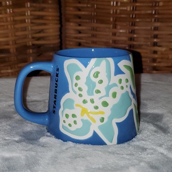 Starbucks Summer 2021 Hibiscus Ceramic Mug NWT